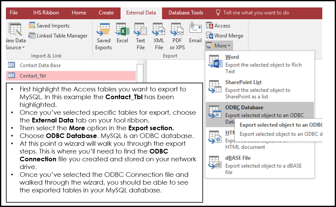 Yes, Microsoft Access Works with MySQL Databases - 1ST CONTACT DATABASES